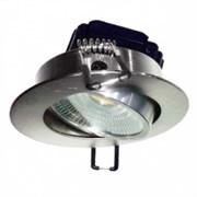 FL-LED Consta B 7W Nikel 6400K мат. хром 7Вт 560Лм(светильник встр. пов.)(S417) D=85мм d=68мм h=45мм