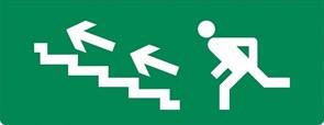 Пиктограмма бегущий человек стрелка вверх 320х120