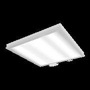 """Светодиодный светильник """"ВАРТОН"""" медицинский накладной 595*595*55мм с защитным силикатным стеклом 36 ВТ 4000К класс защиты IP54 с функцией аварийного освещения"""