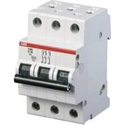 Выключатель автоматический 3-пол.  6A C 6kA ABB