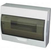 Щит распределительный навесной  ЩРн-П-12 IP40  пластиковый  белый  прозрачная дверь