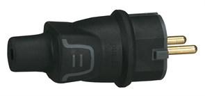 Элиум Евровилка 2К+З с заземлением IP44 черная резина