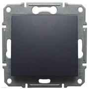 GLOSSA Выключатель одноклавишный сх.1 антрацит в рамку (GSL000711)