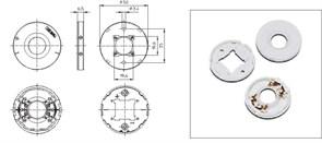 VS 89731 Держатель модулей (основание) DMC, DMS 19*19 50мм - материал PCB, м3, для PC-Pad for Luga-C d=32,5mm Vossloh-Schwabe