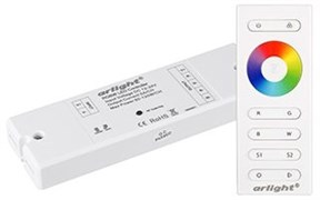 Контроллер SR-2839W White (12-24 В,240-480 Вт,RGBW,ПДУ сенсор)) Arlight
