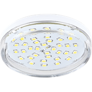 Ecola Light GX53 LED  8,0W Tablet 220V 4200K 27x75 прозрачное стекло 30000h