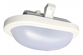 Светильник (LED) 12Вт пылевл-защ. IP65 овал./опал. пласт./бел 4000К Jazzway