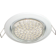 Ecola GX53 H4 Downlight without reflector_white (светильник) 38x106