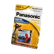 Panasonic Alkaline Power LR03APB/4BPS RU Spider-Man LR03 + наклейка BL4 - Батарейка