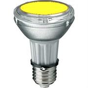BLV    HIT-PAR 20 35W  ye E27 35W 95V 0,5 A  20000cd  6000h   u360  желтая -  цветная лампа