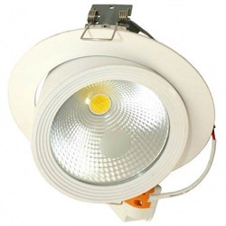 FL-LED DLC 30W 4200K D=187мм h=154мм d=172мм 30Вт 2600Лм (JS014) (встраиваемый поворотный круглый) - фото 10673