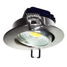 FL-LED Consta B 7W Aluminium 6400K хром 7Вт 560Лм (светильник встр. пов.)(S414) D=85мм d=68мм h=45мм - фото 10690