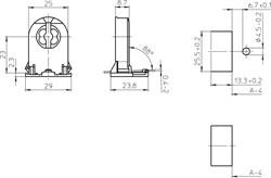 27700 VS Патрон G13 сквозной h23 боковые защёлки+стопор - фото 11140