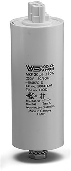 _WTB 18 мкФ ±5% 250V d35 l95 M8x10  (Пласт. корпус/Wago/-40C...+85C) Конденсатор (для ДНат150) - фото 12635