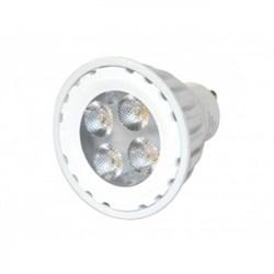 VS LED GU10  6W=50W 2700K 50гр 230V белый корпус   50000h  -  светодиодная лампа - фото 15012