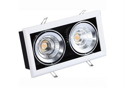 FL-LED Grille-111-2  60W  4000K 360*195*170мм 60Вт 4800Лм (светильник карданный светодиодный белый) - фото 15405