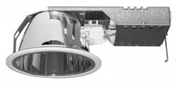 FBH146 2*PL-C/2P18W IC (downlight, d-185, h-100, декор бел. кольцо) -светильн - фото 17602