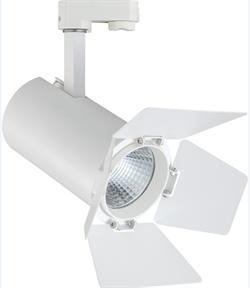 TEATRO 30Вт 3000К 38гр 3200Лм CRI=83 Белый - светодиодный трековый светильник со шторками - фото 21134