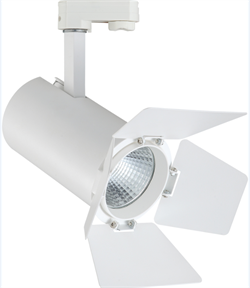 TEATRO 30Вт 3000К 24гр 3200Лм CRI=83 Белый - светодиодный трековый светильник со шторками - фото 21136