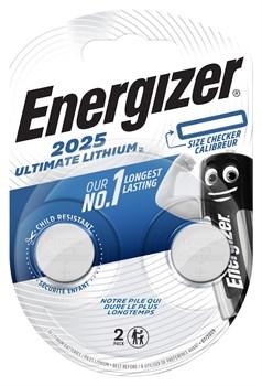 Батарейка ENERGIZER Ultimate Lithium CR2025 BL2 - фото 22047
