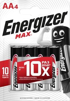 Батарейка ENERGIZER MAX LR6/E91/AA BL4 -(блистер 4шт) - фото 22052