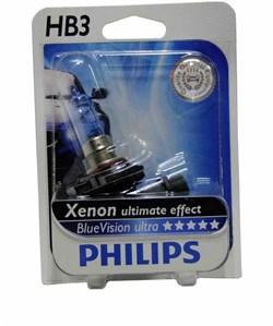 9005 BV  HB3 BlueVision 12V 65W P20d блистер PHILIPS - лампа - фото 23790