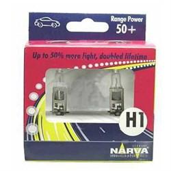 98503 Набор (2 шт.) TWIN SET  H1  12V 55W RANGE POWER +50%  NARVA - лампа - фото 23793