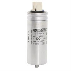 _WTB100 мкФ ±5% 250V  d55 l148 M10x16 (Алюм. корпус/Wago/-25С...+70C) Конденсатор - фото 28366