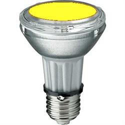 BLV    HIT-PAR 20 35W  ye E27 35W 95V 0,5 A  20000cd  6000h   u360  желтая -  цветная лампа - фото 5723