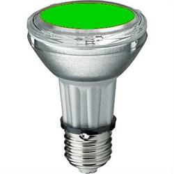 BLV    HIT-PAR 20 35W  gr  E27 35W 95V 0,5 A   8000cd  6000h   u360  зеленая -  цветная лампа - фото 5727