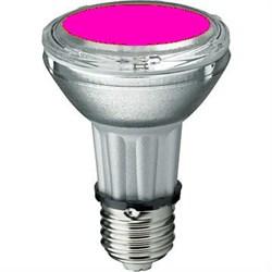 BLV    HIT-PAR 20 35W  mg E27 35W 95V 0,5 A  3700cd  6000h   u360  маджента -  цветная лампа - фото 5728