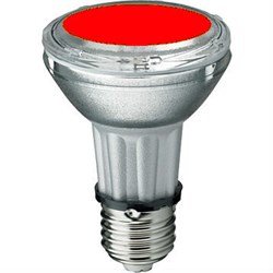 BLV    HIT-PAR 20 35W  re  E27 35W 95V 0,5 A   3000cd  6000h   u360  красная -  цветная лампа - фото 5730