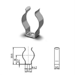 20400 VS Клипса  метал. Т8 26мм                                 - Германия - фото 6042