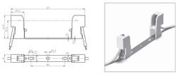 32361 VS Патрон RX7s керамика на планке 114,2мм. провод 1 кв.мм - фото 6102