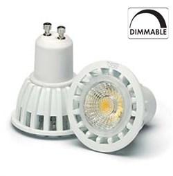VS LED GU10  7W=50W 3000K 36гр DIMM230V 450lm 800cd белый корпус   50000h  -  светодиодная лампа - фото 7144