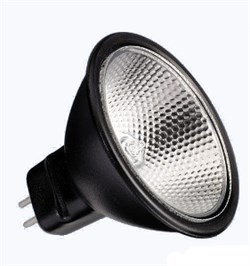 BLV       Reflekto Alu/Black 35мм   20W  12°  12V  GU4  3500h  черный / прозрачная- лампа - фото 8451