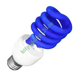 ESL  L9 20W   BLUE         E27 СПИРАЛЬ d48X127 FOTON -  лампа (E076) - фото 9316