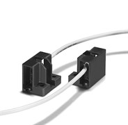 31672  VS  R7S LAMPHOLDER (PPS) 5 kV - держатель для ламп  вывод провода слева