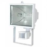 Прожектор галогенный  с датчиком FL-H500S  -под лампу 114мм- IP54    белый (S011)