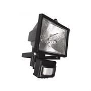 Прожектор галогенный  с датчиком FL-H150S  -под лампу 78мм- IP54 черный (S010)