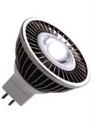 VS LED MR16  4W=35W  GU5.3  2700K 38гр 12V DC белый корпус  35000h  -  светодиодная лампа