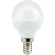 Ecola globe   LED Premium  7,0W G45  220V E14 2700K шар (композит) 77x45