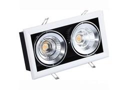 FL-LED Grille-111-2  60W  3000K 360*195*170мм 60Вт 4800Лм (светильник карданный светодиодный белый)