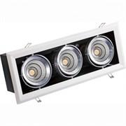 FL-LED Grille-111-3  90W  4000K 525*195*170мм 90Вт 7200Лм (светильник карданный светодиодный белый)