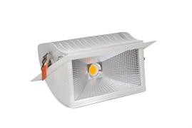 DL-LED SKOOP 50W  50гр КОРПУС (встраиваемый поворотный прямоугольный)