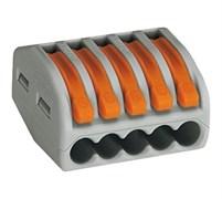 222-415   5 конт., многоразовая, 32A 400V - клеммная колодка WAGO