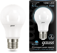 Лампа Gauss LED A60 10W E27 920lm 4100K 1/10/50