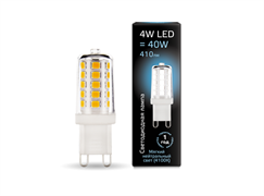 Лампа Gauss LED G9 AC185-265V 4W 410lm 4100K керамика 1/10/200