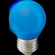 Ecola globe   LED color  5,0W G45 220V E27 Blue шар Синий матовая колба 77x45