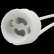 Ecola base GU10 патрон керамический с проводами 2*8cm (1 из уп. по 48)